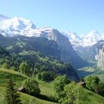 view over Wengen summer