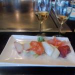 shashimi and plum wine