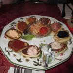 assiette de blinis