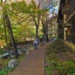 Brookside's River Walk in back of building