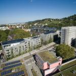 Green City Hotel Vauban aus der Luft