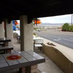 Outdoor seating with view of Lake Havasu