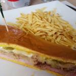 Cuban sandwich on sweet bread