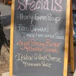 Specials for the day