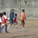 Football with the locals