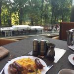 Omelet + View from a table by the window