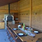 'A Taste of Italy' Summer House venue with wood-fired pizza oven