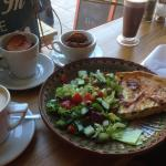 Lunch of Quiche and salad, wonderful!!!