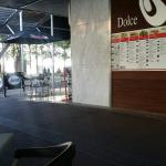 Great! Quick friendly service, nice area to sit down outside and inside and not too expensive