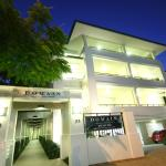 Evening descends on Domain Serviced Apartments