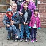 The family out the front of YHA