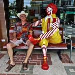 Zdravko sitting with Ronald McDonald