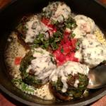 Stuffed mushrooms spicy but very good