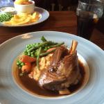 Lovely lamb shank for lunch