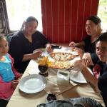 Yummy Pizza!! Lunch with the sisters and Princess Julie (Marcos Daughter)