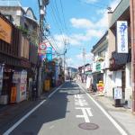 西鉄太宰府駅方面からだとこの風景の道を進んで行くことになります。あまり道幅は広くありません。