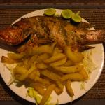 red snapper with garlic fries