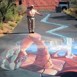 Coyote Art Village Street Chalk art