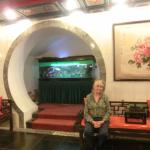 My wife, Lou Ellen, sits at an interesting niche in the lobby