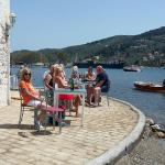 Lovely sergios apartment's in koukaranios skiathos  and dining at the Big Bad wolf.  Sailing on