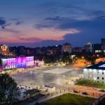 Italya and #Mother Tereza square view from MAKTIRANA Hotel &Tower room