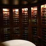 Private dining room with wine selection...