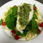 Chilean Sea Bass Pesto Crusted