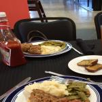 Meatloaf/Green Beans/Mashed Potatoes, etc