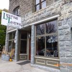 Lostine Tavern exterior of Bowlby rock