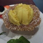 Dessert - Mango Ice Cream in a Oatmeal cup
