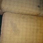 Stained chair and ottoman
