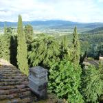postcard view of Tuscany