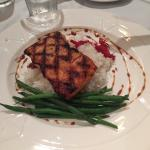 Tasty entrees - including the excellent began offering of grilled eggplant