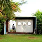 The heavenly entrance to beach..its a old ship compartment door which is palced as beach entranc