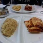 Risotto e lasagna.