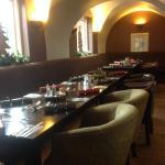 Arch dining area