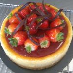 Lemon and strawberry cheesecake