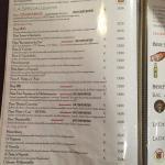 Carte des pizzas (1/2)