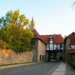 Old house with arch near Cloisters