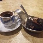 Greek coffee and gelato ball