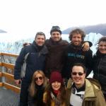 con mis primos en el glaciar