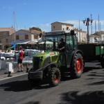 tracteur - vendanges en cours.