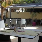 une vue de la terrasse du restaurant