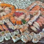 large plate of rolls
