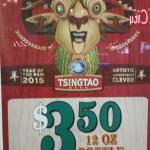 Tsingtao Beer Special a Sushi Maru