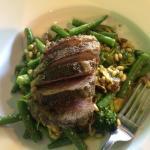 Holy moly! Kawakawa herb crusted lamb... Nothing short of amazing #foodporn 💖