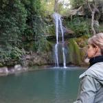 Beautiful waterfall for swimming