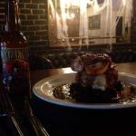 The Wolf's Halloween special; Pollo Diablo coupled with a bottle of Skeleton Blues