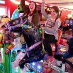 Big Kids loving the arcade