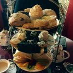 Full service afternoon tea.  Reservation is a must especially if you are using a discount vouche